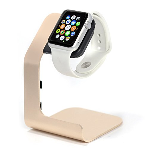 Apple Watch Stand-Tranesca Apple Watch Charging Stand for Series 4 / Series 3 / Series 2 / Series 1; 38mm/40mm/42mm/44mm Apple Watch- Gold