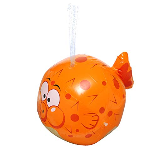 Kids Water Sprinkler Toy, Giant Inflatable Water Sprinkler Puffer Fish, Lawn Toy,in Your Garden, on The Beach or on The Grass of Your BackyardFun for Boys & Girls,