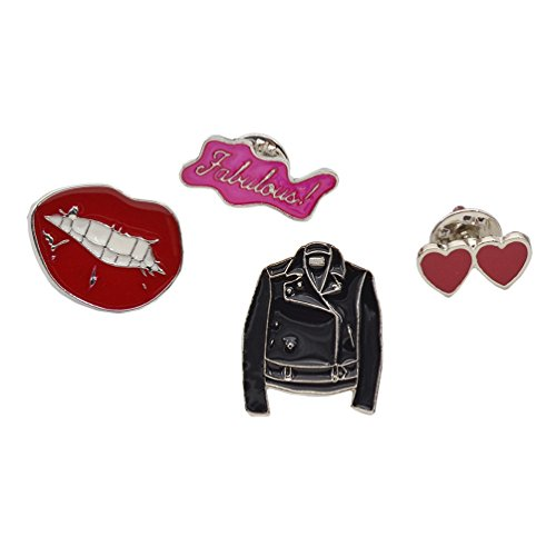 Alloy Enamel Breastpins Lip Jacket Hearts Fabulous Shirt Collar Brooches Lapel Pins 4 (Fabulous Design Brooch)