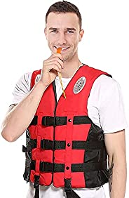 Kayak Life Vest for Adults and Children, S~3XL Fishing Life Vest for Sailing Surfing Kayaking,Men Women Person