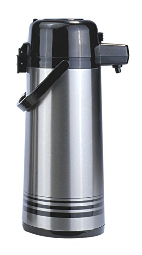 Update International (PSVL-30-BK/SF) 3.0 L Stainless Steel Push-Button Air Pot