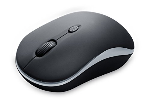Case Logic Wireless Case - Case Logic Wireless Mouse with Domed Top and Scroll Wheel Black