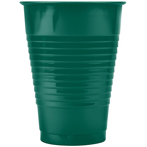 28312471 12 oz. Hunter Green Plastic Cup 20/Pack By TableTop King