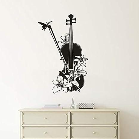 Patrón de violín Tatuajes de pared de vinilo Estudio de música ...