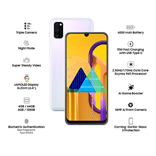 Samsung Galaxy M30s (White, 4GB RAM, 64GB Storage)