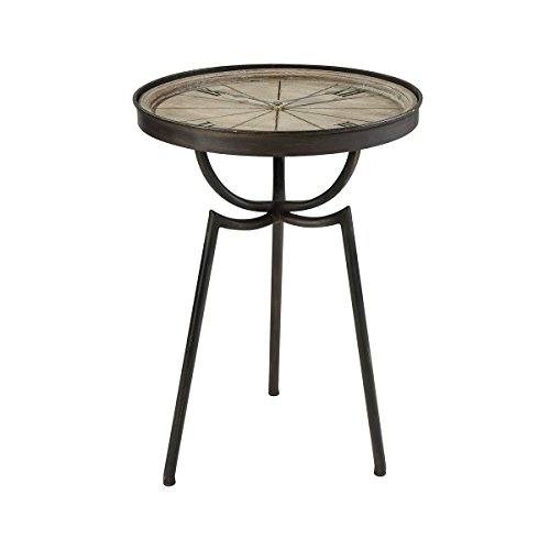 Sterling Home Chancery Lane Clock accent table, Brown (Lane Furniture Sterling)