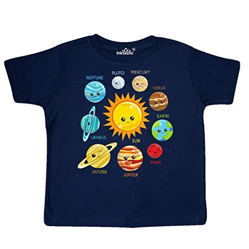 inktastic - Cute Planets, Solar System, Toddler T-Shirt 3T Navy Blue 35a52 (Little Big Planet Kids Tshirt)