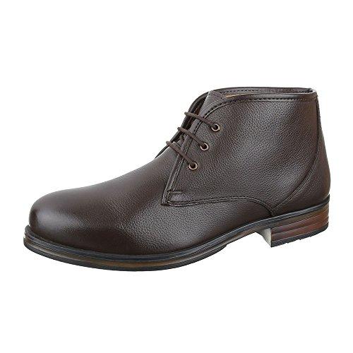 Schuhe Schnürsenkel Boots Chelsea Ital Blockabsatz Boots Herren Dunkelbraun  Design Stiefeletten Schnürer Leder wp77xvIzq ... d79b834cbe