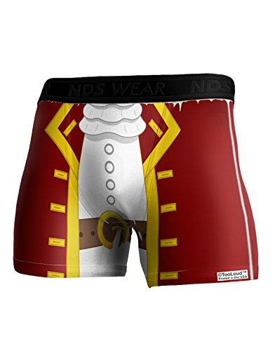 TooLoud Pirate Captain Costume - Red Boxer Brief Dual Sided Large All Over Print