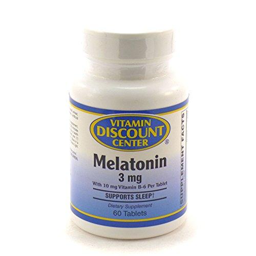 Melatonin 3 Mg By Vitamin Discount Center 60 Tablets