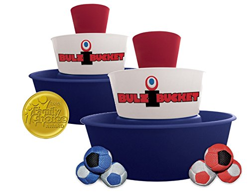BULZiBUCKET Special Edition (Red, White & Blue) - Next Generation Cornhole - Hacky Sack/Bean Bag Game - Land and Pool. Ultimate Event Game