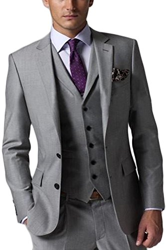 CMDC-Mens-New-Casual-Slim-Fit-Skinny-dress-Vest-Business-Suits-Three-piece-D163