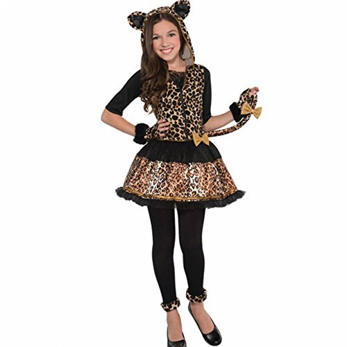 [Amscan International Big Girls' Sasssy Spots Leopard Costume Age 8-10 Years] (Sassy Cat Costumes)