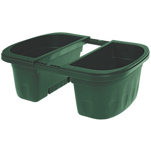 Apollo Adjustable Railing Planter, Double-Sided (Green, 16 inches)