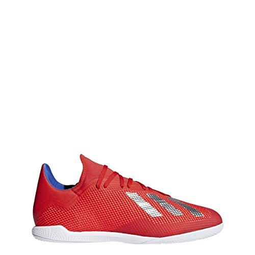 adidas Men's X 18.3 Indoor, Active red/Silver Metallic/Bold Blue, 7.5 M US