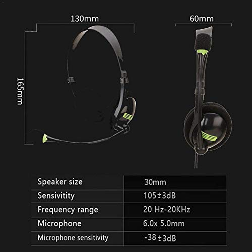 Glossrise USB Headset with Microphone Noise Cancelling & Audio Controls, Stereo Computer Headphones for Business UC Softphone Call Center Office, Clearer Voice, Super Light, Ultra Comfort