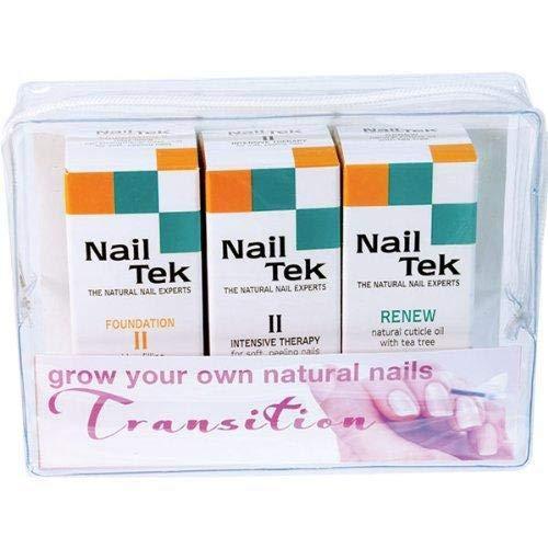 - Nail Tek Repairs Damaged Nails kit.Intensive Therapy(.5OZ),Foundation(.5OZ)& Renew(.48OZ)