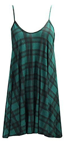Strappy Tartan Swing Dress Top