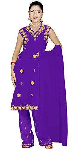 Trendofindia Lila Salwar Kameez/Punjabi Größe L