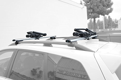 Foldable Folding Kayak Carrier Canoe Boat Surf Ski Roof Top Mounted on Car & SUV Crossbar