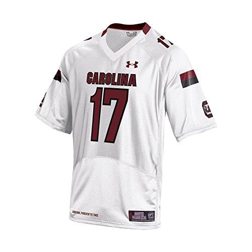 (NCAA South Carolina Cardinal Youth Replica Jersey, White, Small)