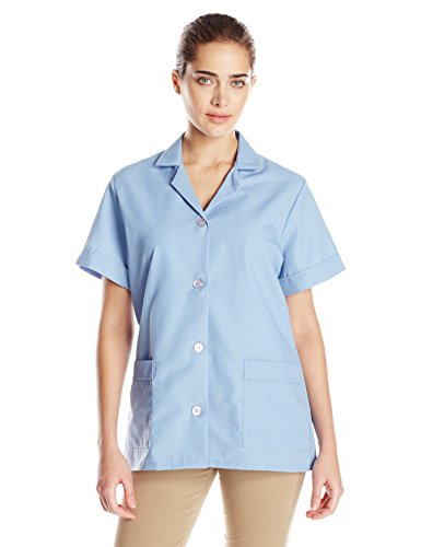 Red Kap Women's Button Front Tunic, Light Blue, Large