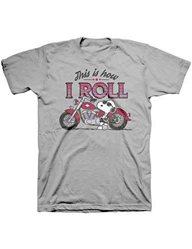 Men's Snoopy This Is How I Roll T-shirt. M to XXL