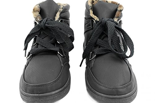Sneaker Hi-Cut Damenschuhe Hi Damen Boots Steiefel Freizeitschuhe Schuhe Z7945B, Präzise Farbe:Schwarz;Schuhgröße:EUR 37