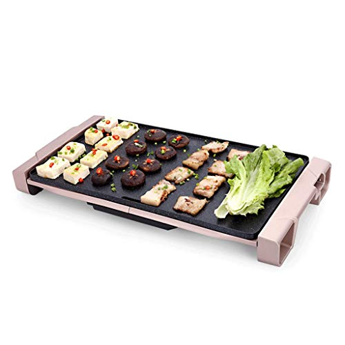 Electric baking pan Teppanyaki Table Grill, 59286.5cm Non-Stick Griddle with Adjustable Temperature, BBQ Hot Plate Barbecue – for Indoor Outdoor