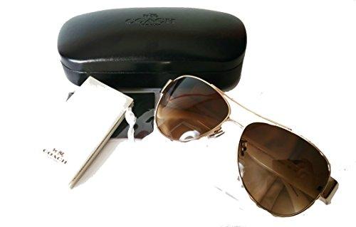 Coach Olivia Sunglasses Aviator Light Gold - Coach Sunglass White Case