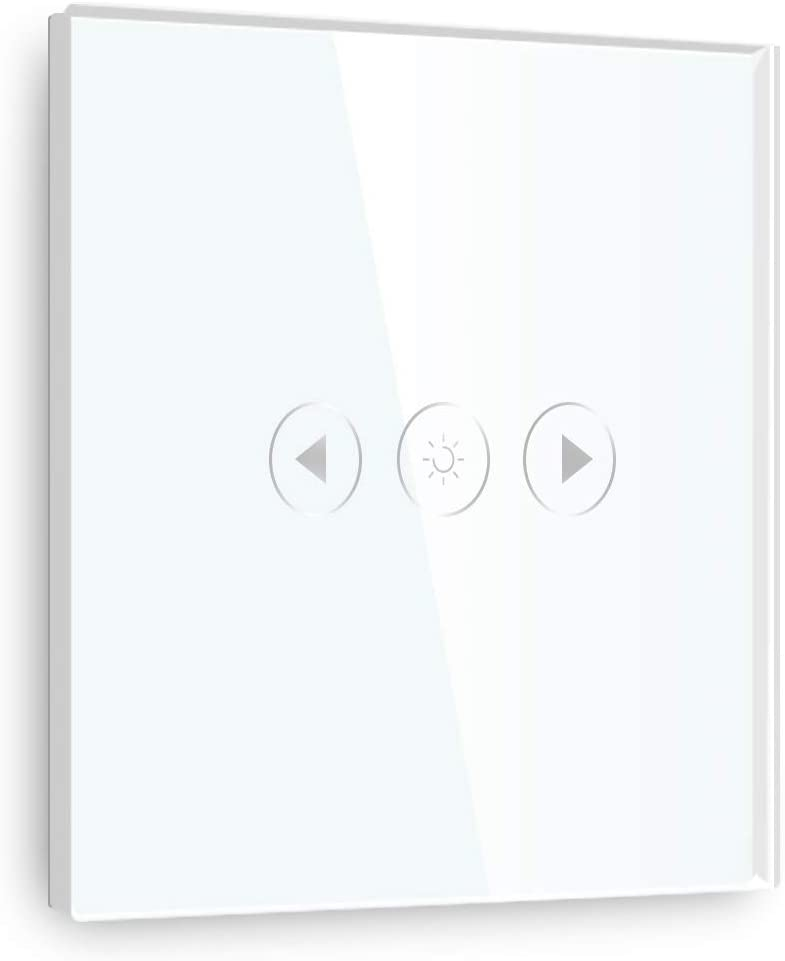 Google Home et IFTTT,panneau tactile wifi Blanc(besoin de se connecter /à une ligne neutre) BSEED interrupteur tactile Interrupteur /à 2 Gang 1 Voies Connect/é WiFi Compatible avec Tuya Alexa
