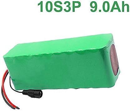 36V 9Ah 10S3P Li-ion Paquete de baterías E-Bike Ebike bicicleta ...