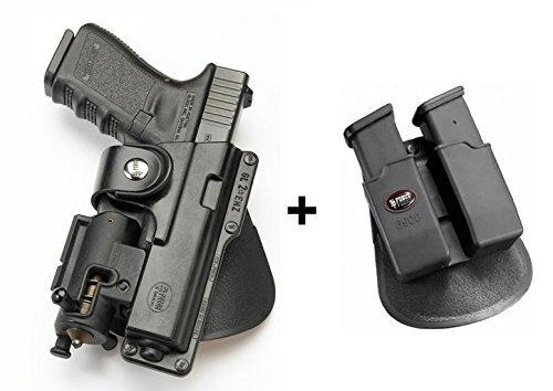 Fobus verdeckte Trage Pistolenhalfter Mit Haltegurt Halfter Holster + 6900 Doppel magazintasche für Glock 17, 22 Smith und Wesson S&W Sigma 40VE Walther P99Q
