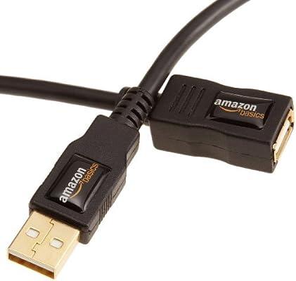 AmazonBasics - Cable alargador USB 2.0 tipo A (3 m): Amazon.es ...