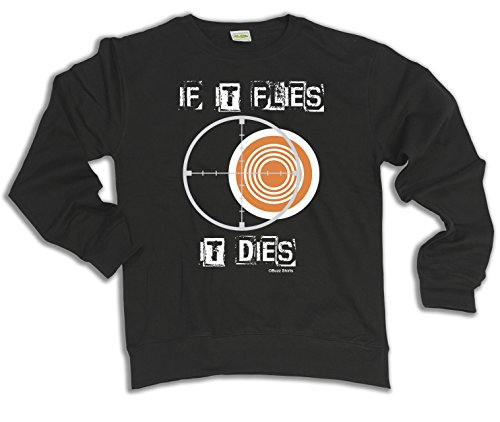 If It Flies It Dies Clay Pigeon Shooting Hoodie Or Sweater Mens Ladies Unisex