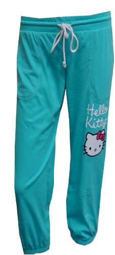 Hello Kitty Turquoise Capri Lounge Pants for women (Womens Hello Kitty Clothes)
