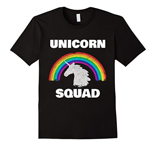 Mens Unicorn Squad Vintage Retro Rainbow Unicorns Love Tee Shirt XL Black