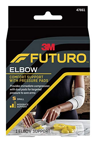 (Futuro Elbow Support with Pressure Pads, Moderate Stabilizing Support, Small)