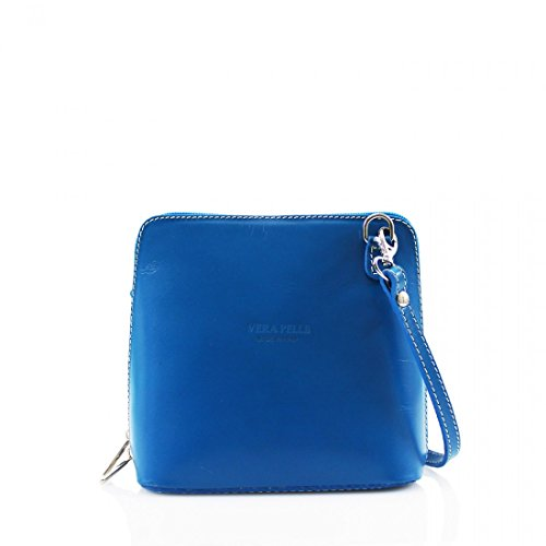 Body Genuine Designer Square New Pelle Womens mini Small Handbag Blue Shoulder Vera Cross Bag Leather wqnFnfBZv