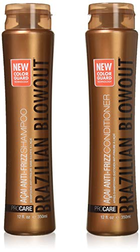 Brazilian Blowout Acai Anti-Frizz Shampoo & Conditioner 12oz bottles by Brazilian Blowout
