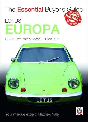 Parts Elan Lotus - Lotus Europa: S1, S2, Twin-cam & Special 1966 to 1975 (Essential Buyer's Guide)