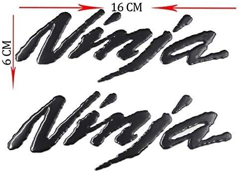 Color : Black CHENWEI Motorrad-Emblem-Abzeichen-Aufkleber Tank-Rad-Aufkleber for Kawasaki for Ninja 250R 300R ZX6R 636 ZX10R Z800 Z1000 ZX7R 9R