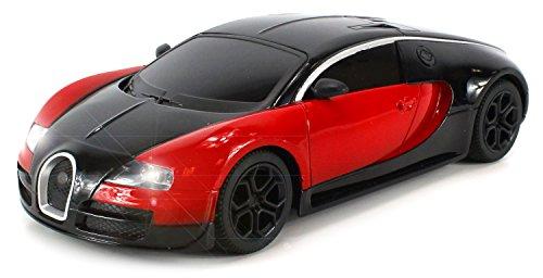 Diecast Bugatti Veyron Super Sport Electric RC Car Full Metal Body 1:24 - Length Full Blacked