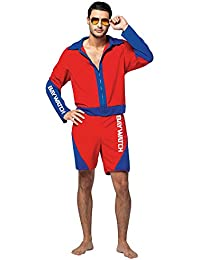 Mens Halloween Costume- Baywatch Male Lifeguard Suit Adult Costume