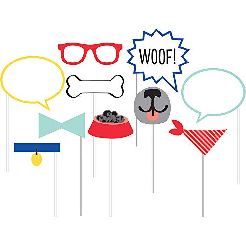 Dog Party Photo Booth Props, 10 Count]()