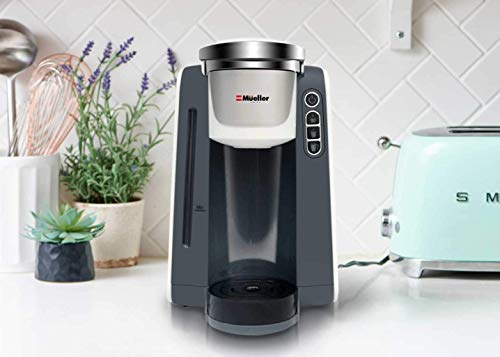 Mueller Ultima Single Serve Pod Compatible Coffee Maker Machine With 4 Brew Sizes for 1.0 and 2.0 Pods. Rapid Brew Technology with Large Removable 48 oz Water Tank