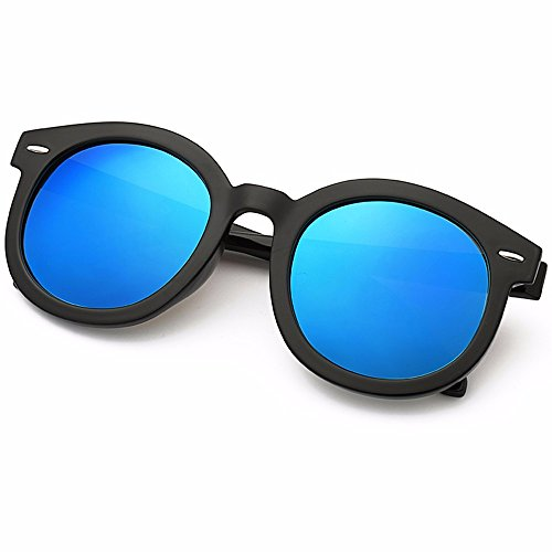 Alto Personalizadas Retro Xiaogege De Espejo Redondo Mujer Oscuro Brillo Azul Rosa Marco Gafas Sol aqv8x1wvBF