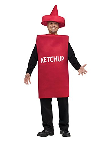 Ketchup Bottle Costume (FunWorld Ketchup Bottle, Red, One Size Costume)