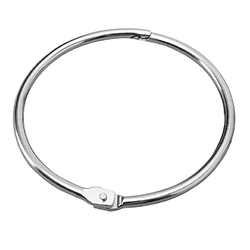 KTOJOY 2 Inch (15 Pack) Loose Leaf Binder Rings, Nickel Plated Steel Binder Rings,Keychain Key Rings, Metal Book Rings,Silver, for School, Home, or Office