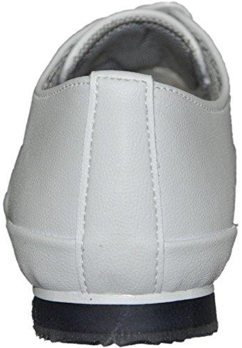 Zapatillas de caña baja, modernas, modelo 258 Blanco - blanco